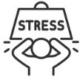 Stress, innerer Unruhe, Spannungen, seelisches Ungleichgewicht